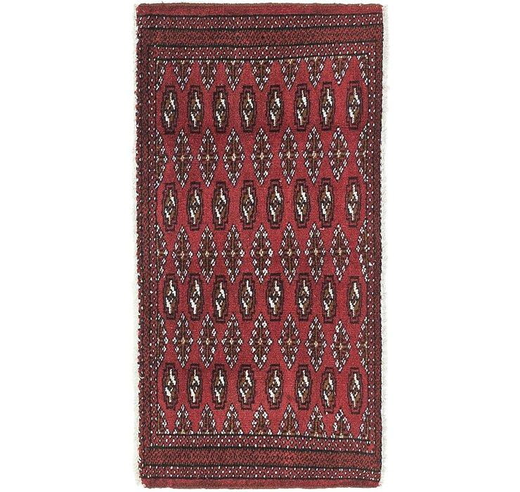 HandKnotted 1' 9 x 3' 7 Torkaman Persian Rug
