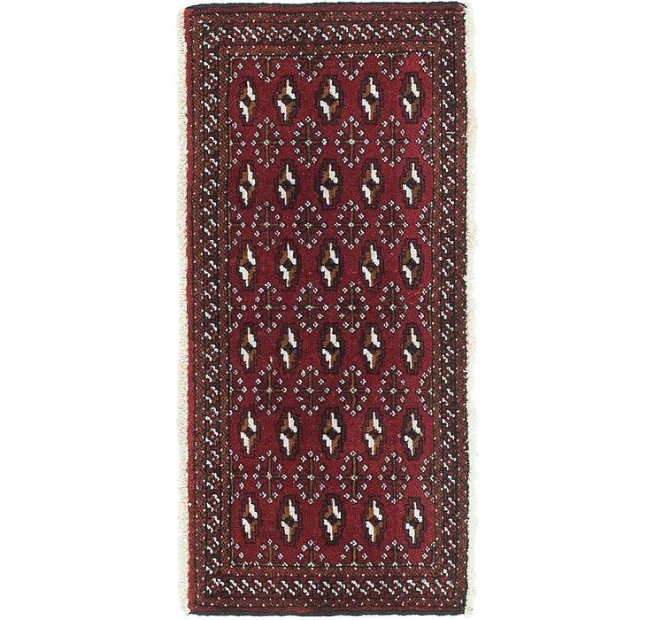 HandKnotted 1' 7 x 3' 6 Torkaman Persian Rug