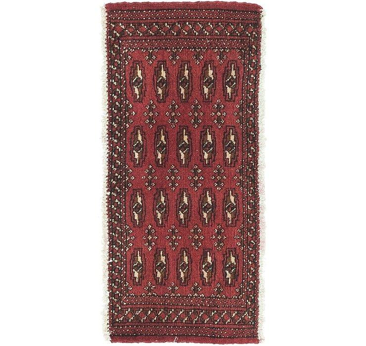 HandKnotted 1' 7 x 3' 5 Torkaman Persian Rug