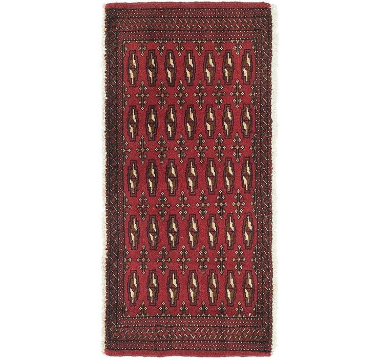 HandKnotted 1' 9 x 3' 9 Torkaman Persian Rug