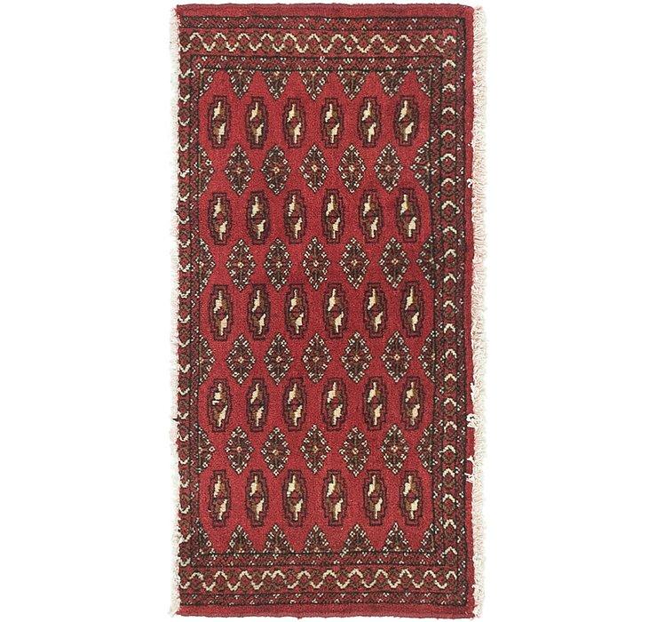 HandKnotted 1' 7 x 3' 4 Torkaman Persian Rug