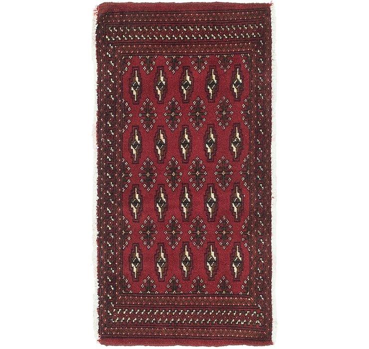 HandKnotted 1' 8 x 3' 4 Torkaman Persian Rug