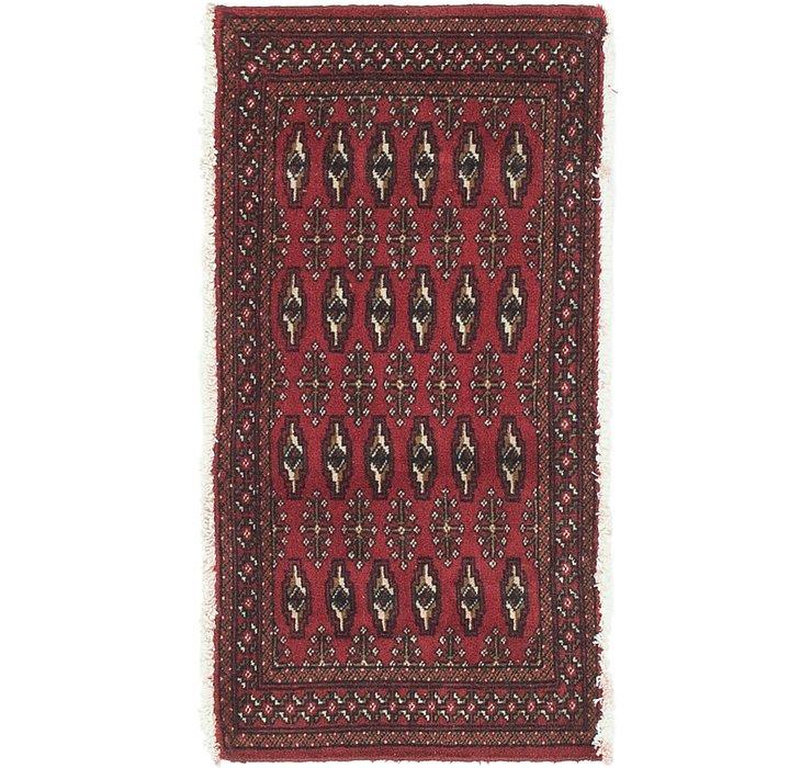 HandKnotted 1' 7 x 3' 3 Torkaman Persian Rug