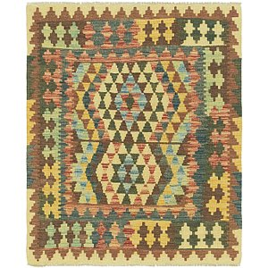 Unique Loom 3' 3 x 3' 10 Kilim Maymana Square Rug