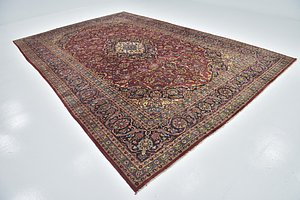 Link to 9' 6 x 14' Kashan Persian Rug item page