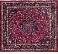 Link to 285cm x 312cm Mashad Persian Square Rug