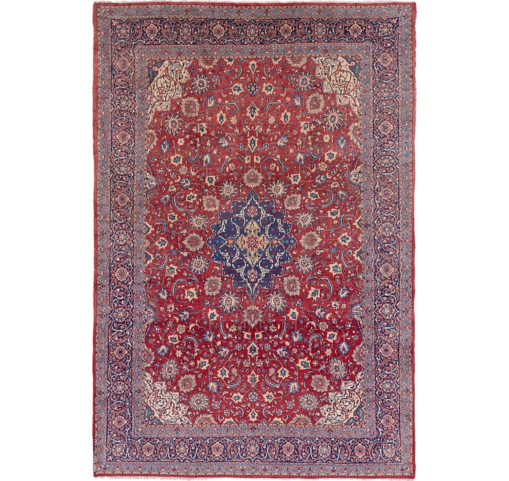9' 10 x 14' 4 Sarough Persian Rug