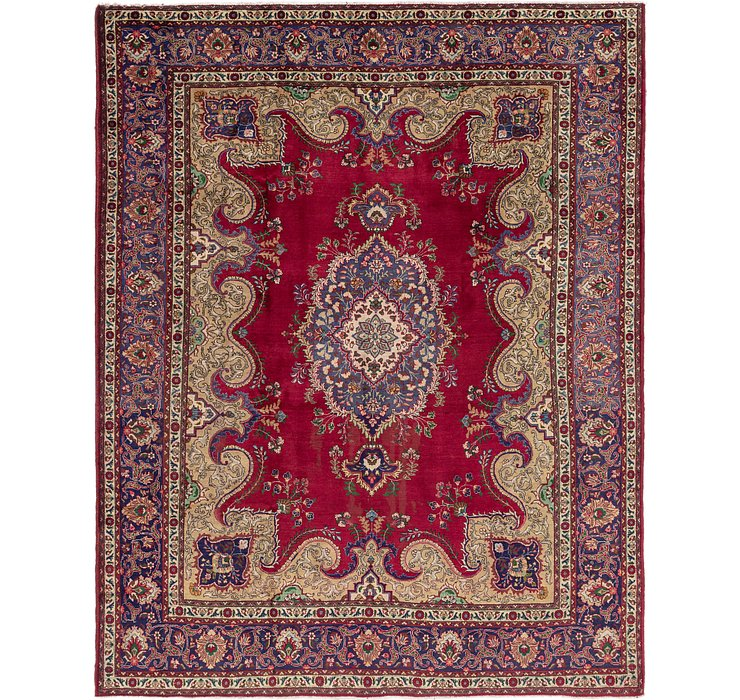 HandKnotted 10' x 12' 5 Tabriz Persian Rug