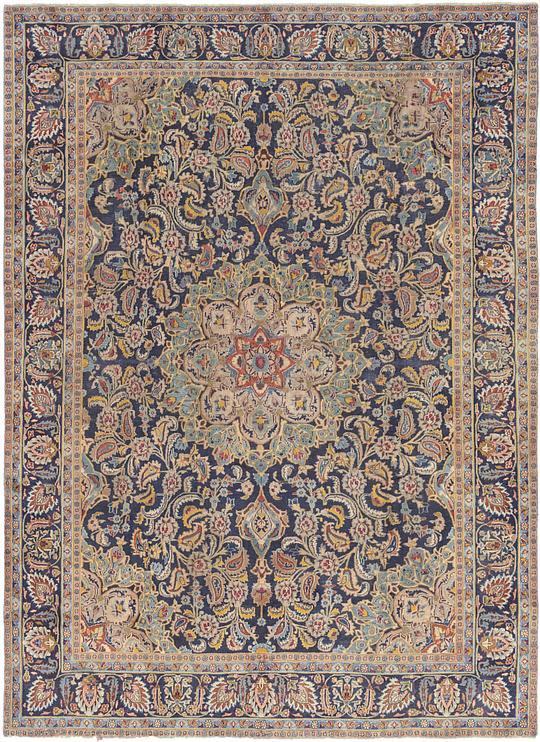 Navy Blue 9 3 X 12 2 Isfahan Persian Rug Persian Rugs Esalerugs
