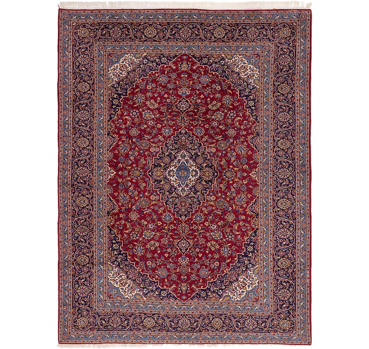 HandKnotted 9' 8 x 13' Kashan Persian Rug