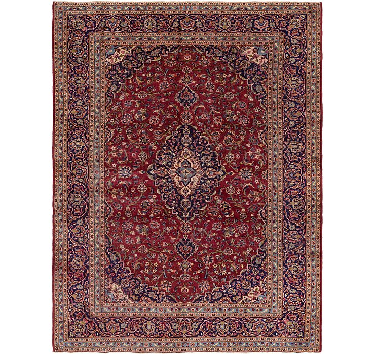 9' 6 x 12' 5 Kashan Persian Rug