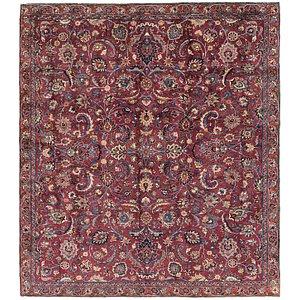 7' 6 x 8' 5 Mashad Persian Square Rug