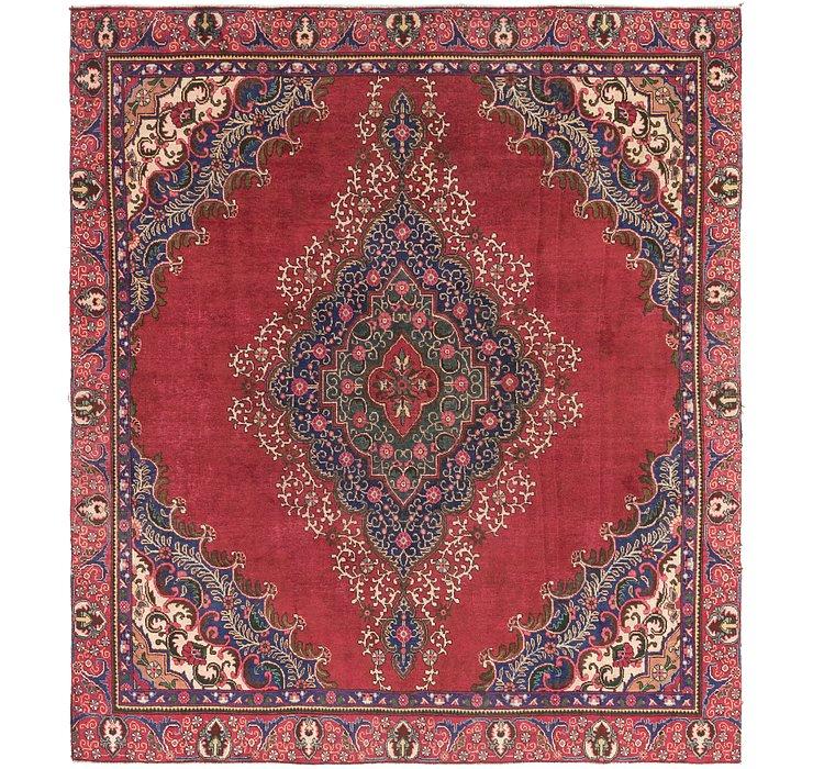 9' x 10' 3 Tabriz Persian Square Rug