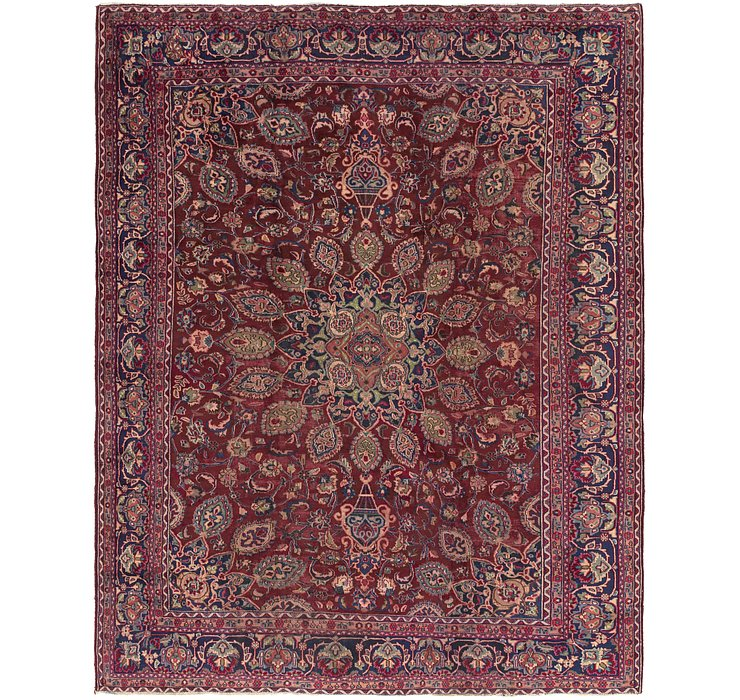 9' 9 x 12' 3 Mashad Persian Rug