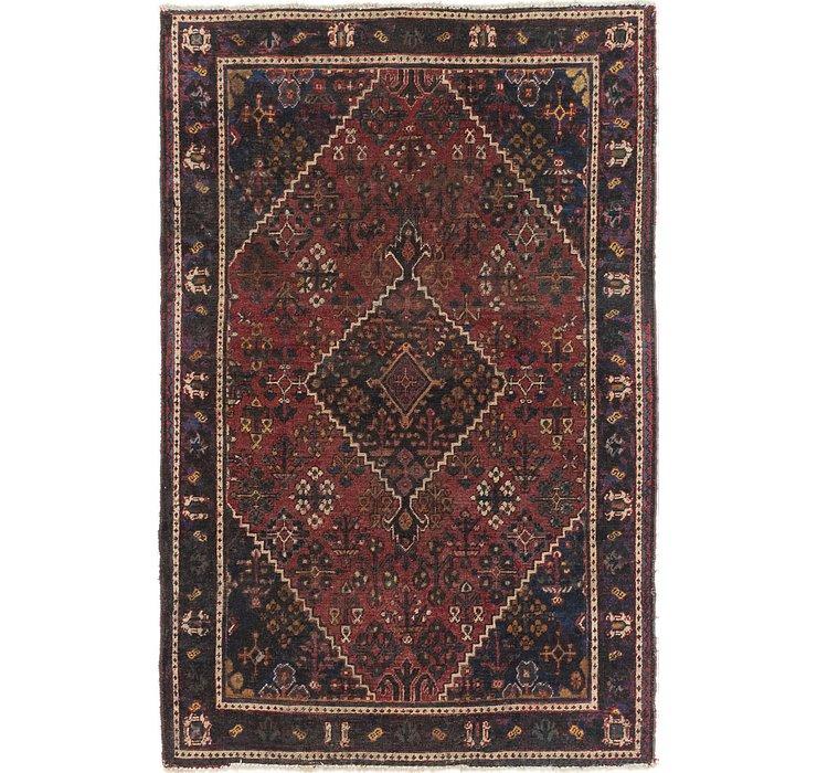 4' 5 x 6' 8 Joshaghan Persian Rug