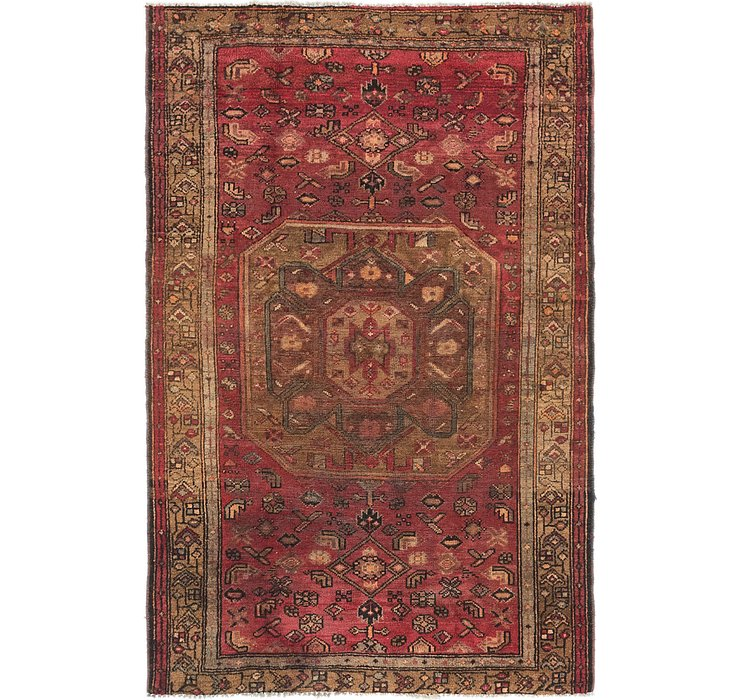 4' x 6' 6 Shiraz Persian Rug