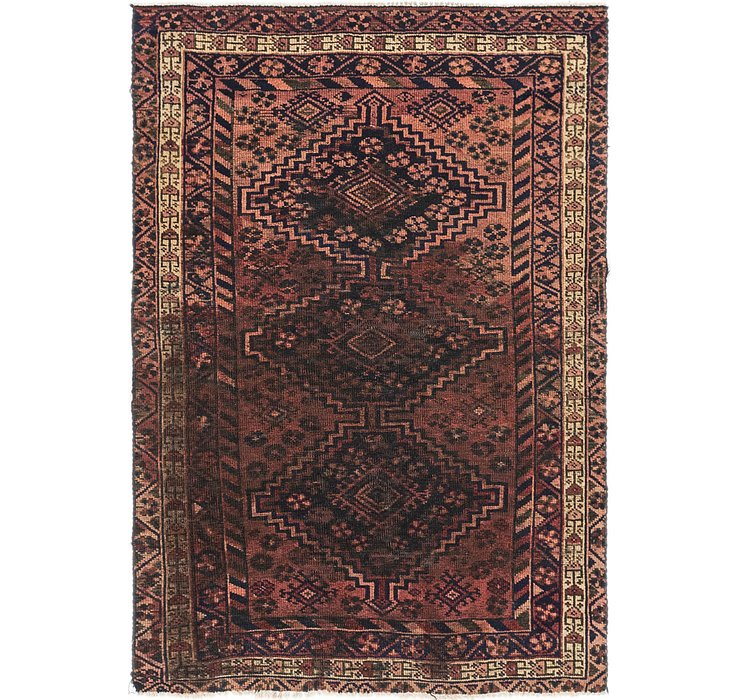4' x 5' 9 Shiraz Persian Rug