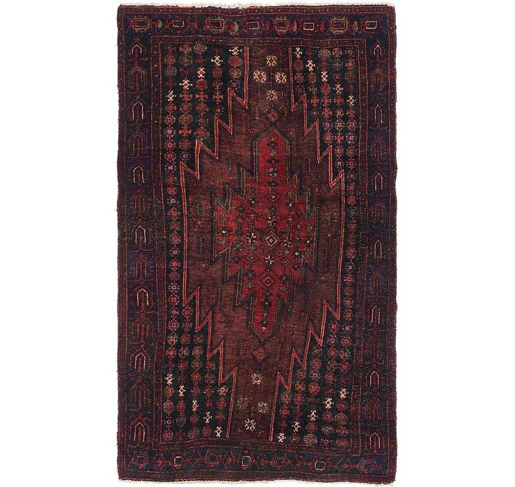 4' 2 x 7' 3 Mazlaghan Persian Rug