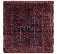 Link to 5' 6 x 6' Shiraz Persian Square Rug