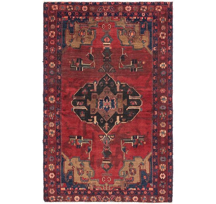 4' 2 x 6' 10 Hamedan Persian Rug