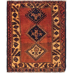 Link to 112cm x 130cm Shiraz Persian Square Rug item page