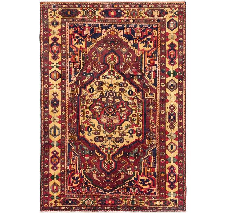 6' 6 x 9' 7 Heriz Persian Rug