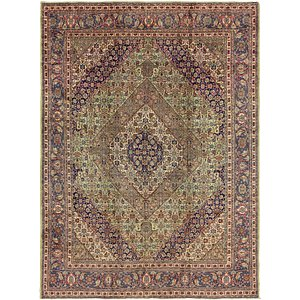 Link to 9' 7 x 12' 9 Tabriz Persian Rug page