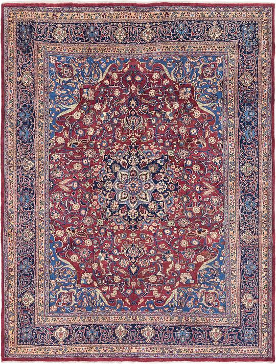 Burgundy 297cm x 385cm Mashad Persian Rug | Persian Rugs | AU Rugs