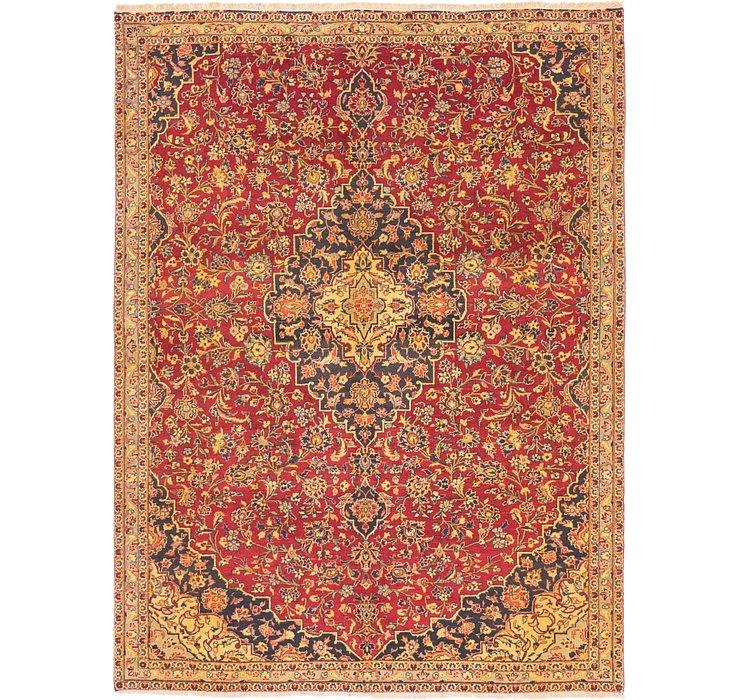 7' x 9' 4 Kashan Persian Rug