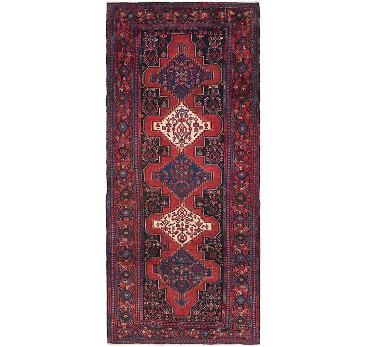 4' x 9' Sanandaj Persian Runner...