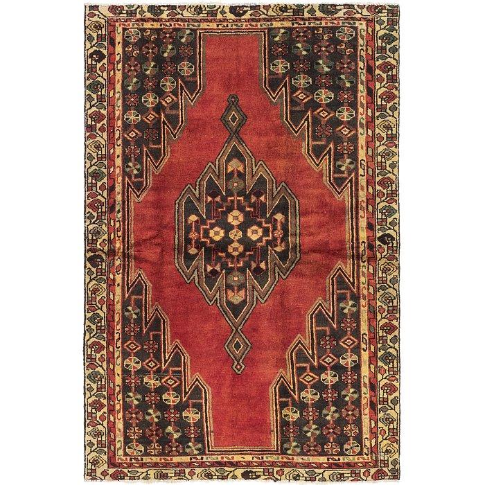 4' x 6' 3 Mazlaghan Persian Rug
