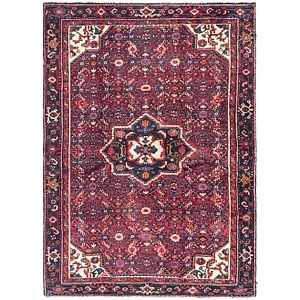 Link to 140cm x 195cm Hossainabad Persian Rug item page