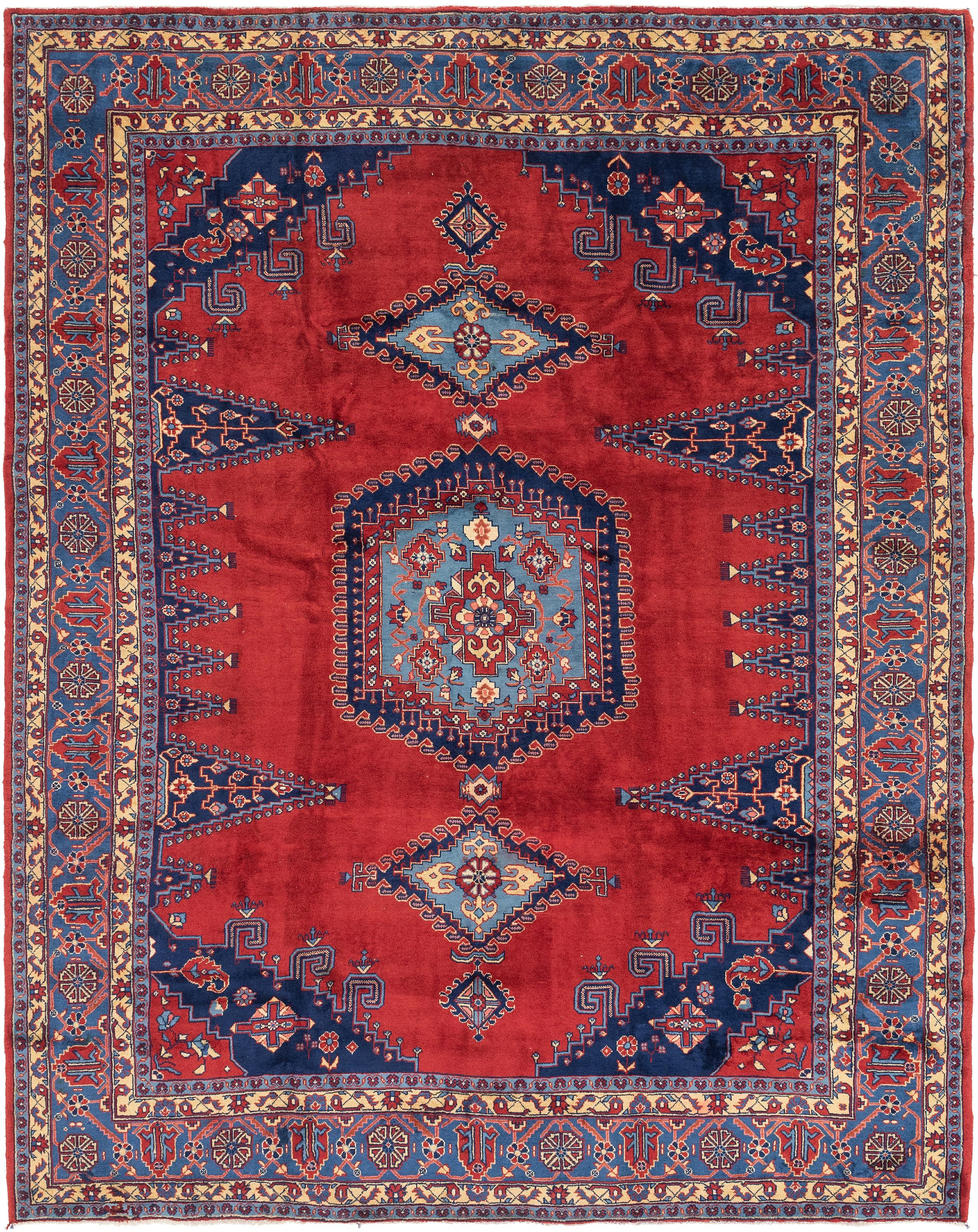 Red 9 8 X 12 7 Viss Persian Rug Handknotted Com