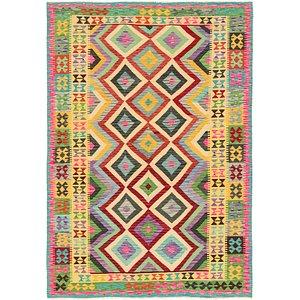 Unique Loom 5' 8 x 8' 2 Kilim Maymana Rug