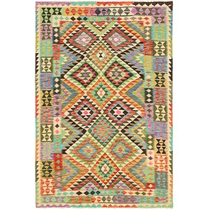 Unique Loom 5' 5 x 8' Kilim Maymana Rug
