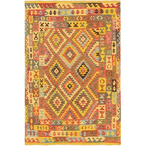 Unique Loom 6' 5 x 9' 5 Kilim Maymana Rug