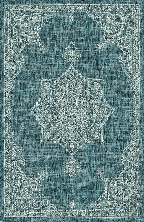 Blue 5 X 7 8 Outdoor Rug Area Rugs Esalerugs