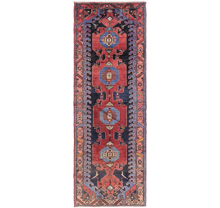 4' 3 x 12' 6 Hamedan Persian Runner ...