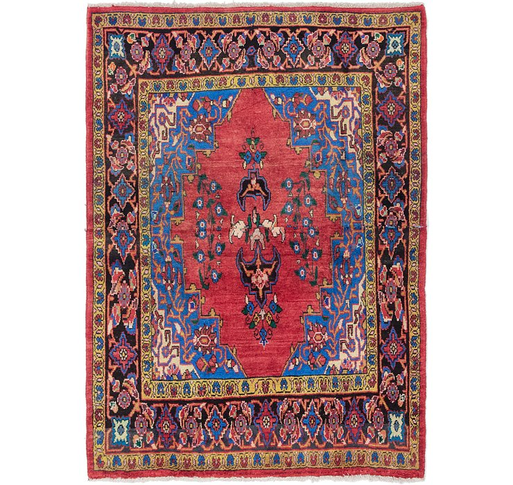 142cm x 198cm Golpayegan Persian Rug