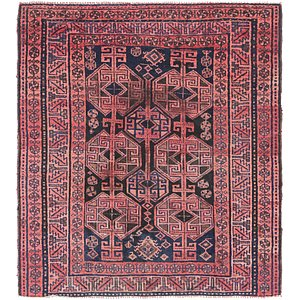 HandKnotted 5' x 5' 6 Shiraz Persian Square Rug