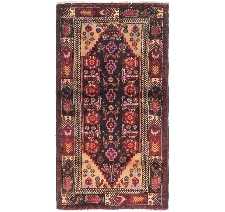 3' x 5' 10 Balouch Persian Rug