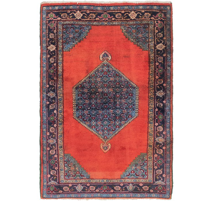 4' 3 x 6' 3 Gholtogh Persian Rug