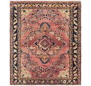 Link to 4' 9 x 5' 10 Hamedan Persian Square Rug