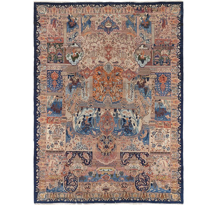 9' 5 x 13' 3 Kashmar Persian Rug