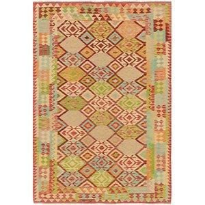 Unique Loom 6' 7 x 9' 10 Kilim Maymana Rug