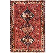 Link to 107cm x 160cm Ghashghaei Persian Rug