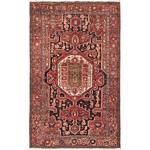 Unique Loom 4' x 6' 6 Hamedan Persian Rug