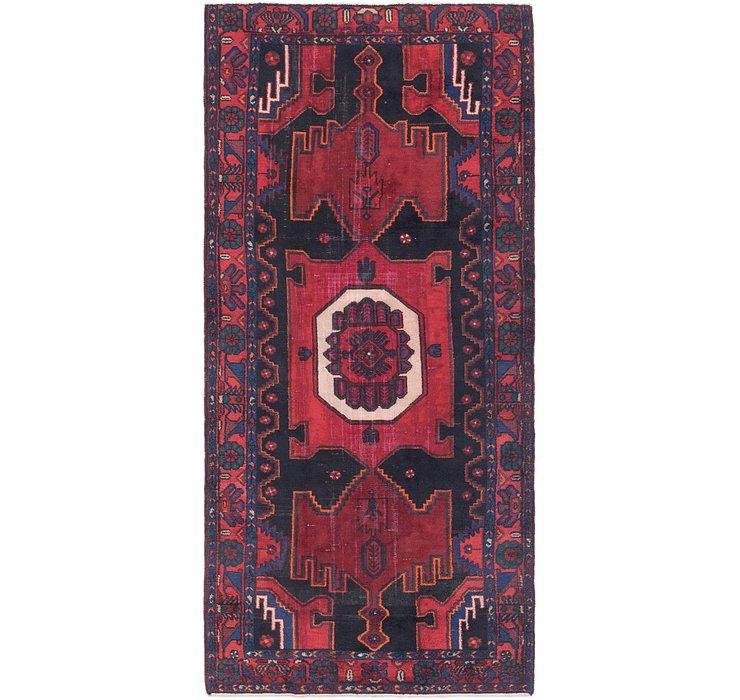 4' 9 x 10' 4 Zanjan Persian Runner Rug