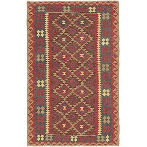 Unique Loom 5' 5 x 8' 5 Kilim Maymana Rug