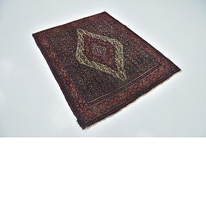 HandKnotted 4' 5 x 5' 6 Senneh Persian Square Rug